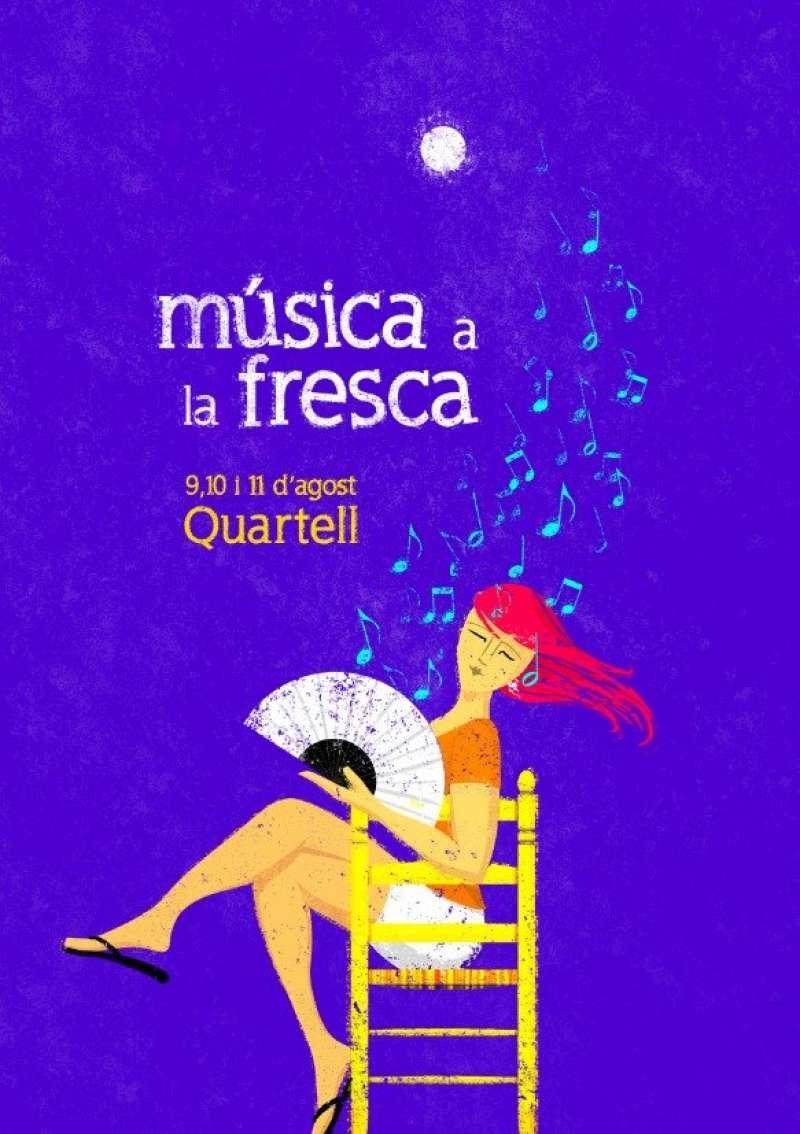 Cartell del festival Música a la Fresca. EPDA