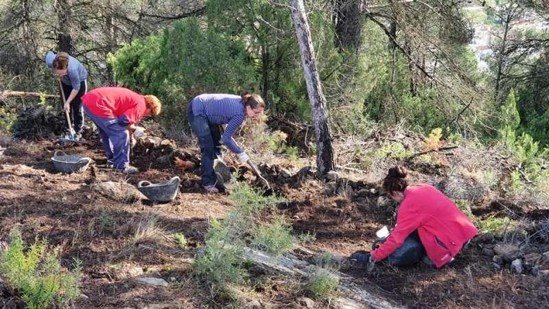 Excavaciones en el Monte Calvario