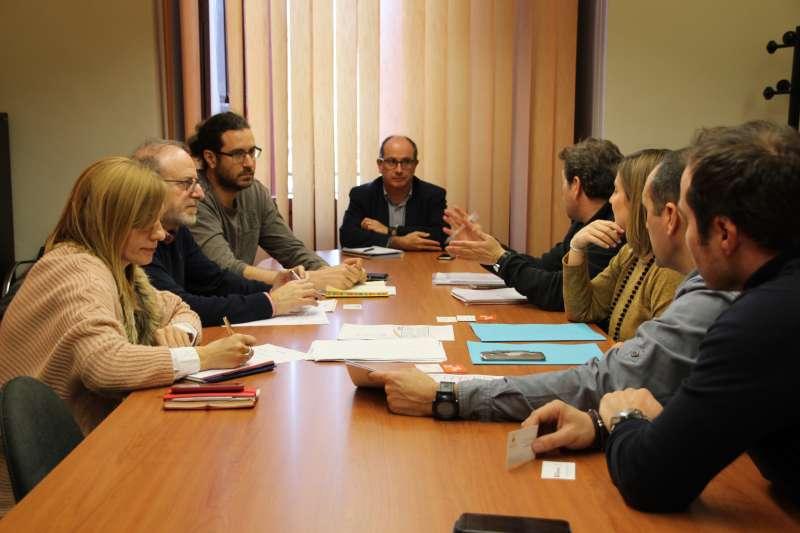 Reunión entre Ayuntamiento de Sagunto y Decathlon. EPDA