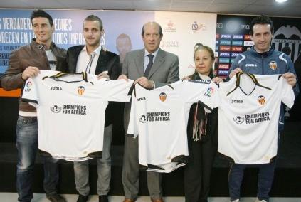 La cuarta edición de Champions for Africa se juega en Valencia el 29 de diciembre en el Estadio de Mestalla. Foto gva.es