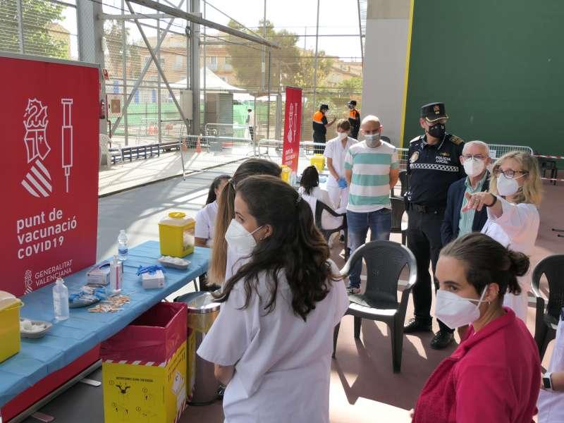 Primer día de vacunación en Alboraya