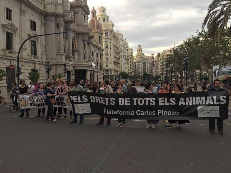 Pancarta de la manifestación