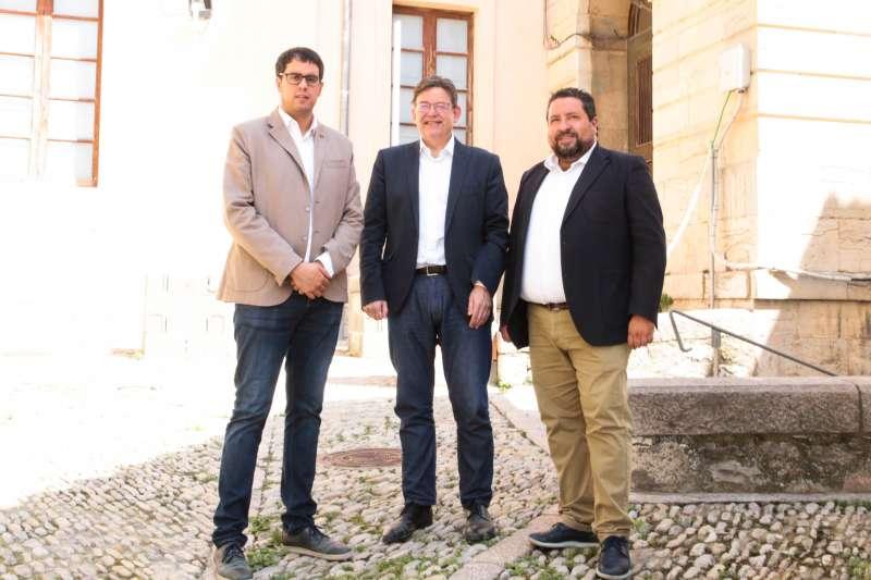 Durante el acto de donación del edificio Colomer-Zurita en Morella.