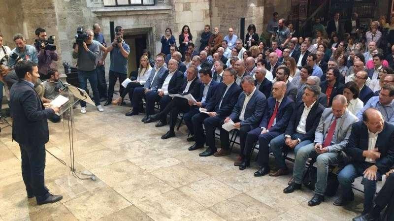 Presentació del pla en el Palau de la Generalitat. EPDA
