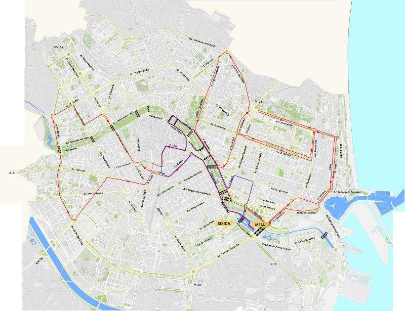 Plànol de la Marató a València. EPDA