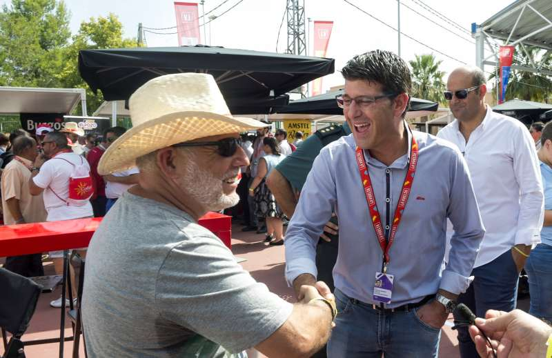 Jorge Rodríguez i Amador Martínez, president de la penya Pedal.