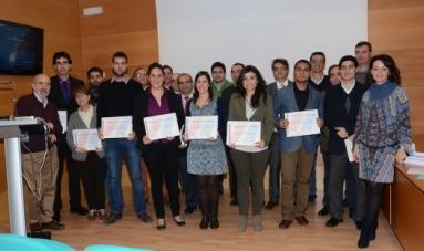 La valenciana Tatiana García junto a otros premiados. FOTO: EPDA