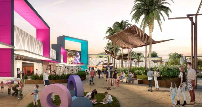 Fotografía virtual del futuro parque comercial de Sagunt. EPDA