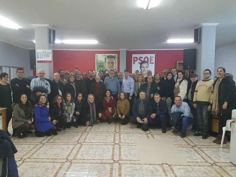 Andrés Campos, concejal de Hacienda, presenta su candidatura en la sede del PSPV en Torrent. EPDA