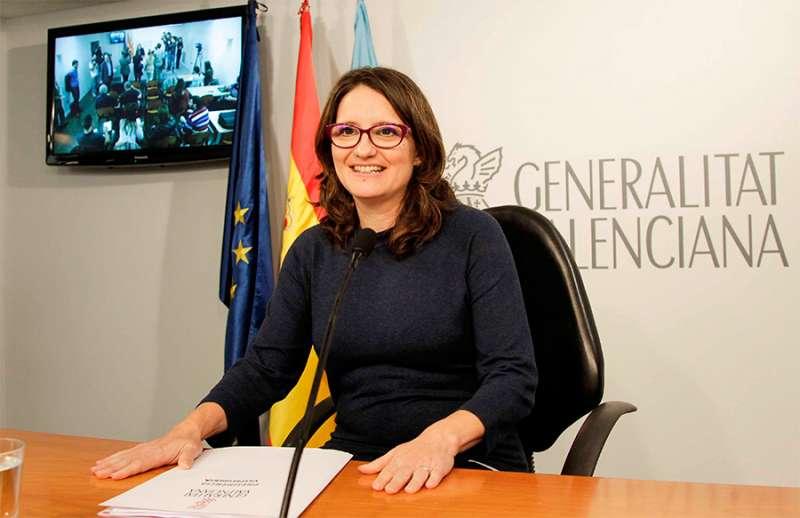 La vicepresidenta y portavoz del Consell, Mònica Oltra,
