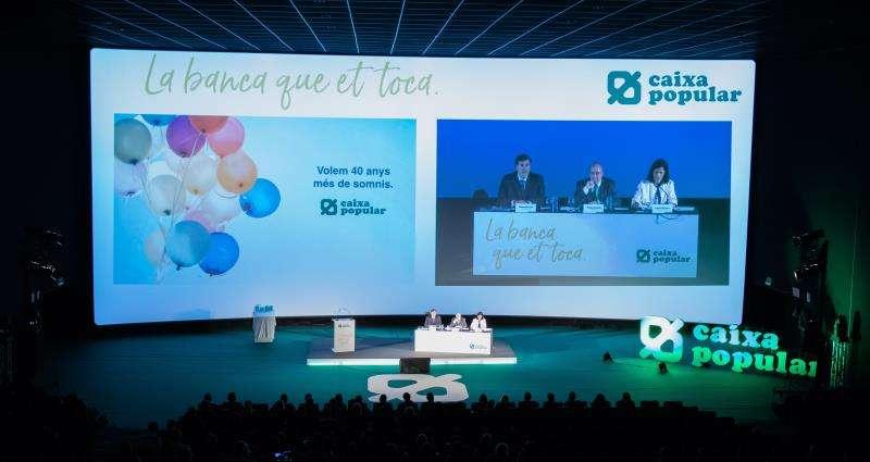 Asamblea de Caixa Popular, en una imagen difundida por la cooperativa de crédito.