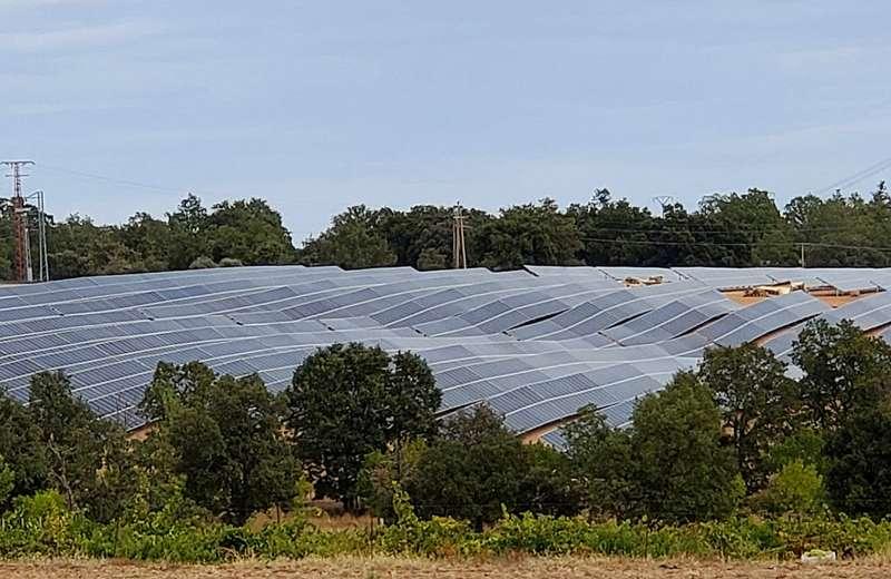 Instalación de uno de los parques solares