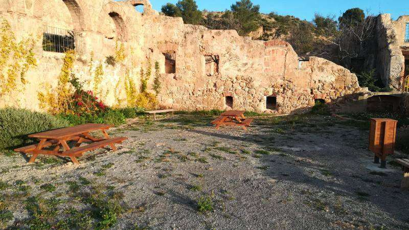 Las ruinas del Batán con los nuevos elementos