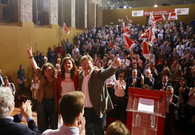 Acto de cierre de campaña de los socialistas en València. EPDA