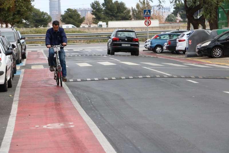 Carril bici en Valencia. EPDA