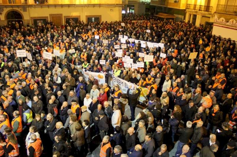 Imatge d´una manifestació.