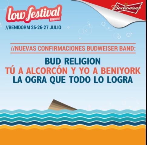 Cartel del Low Festival. FOTO: EPDA