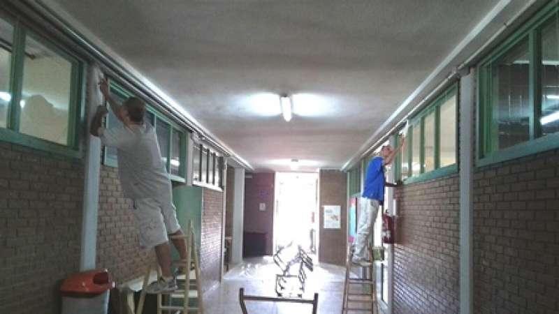 Labores de mantenimiento en los colegios. EPDA