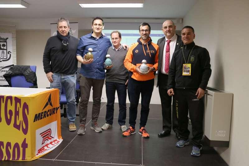 Ramón Cid, Santi Pérez, Valentí Massana, Chuso García Bragado, Manolo Pérez Menero y Eduardo Gómez