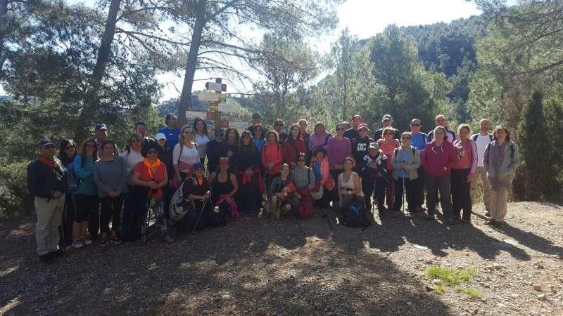 Los participantes de la ruta a Montanejos.//EPDA