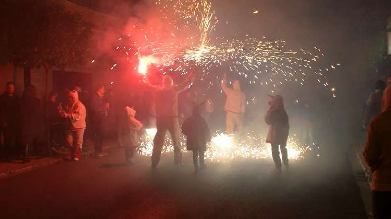 Correfocs a Sant Antoni. / EPDA