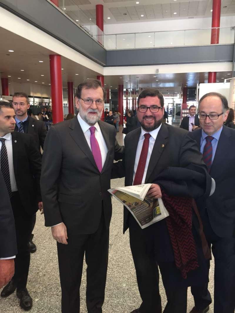 El alcalde de Canet con el presidente del Gobierno. EPDA