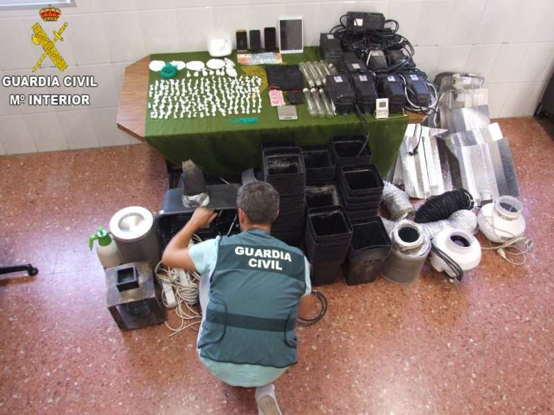 Material incautado. GUARDIA CIVIL