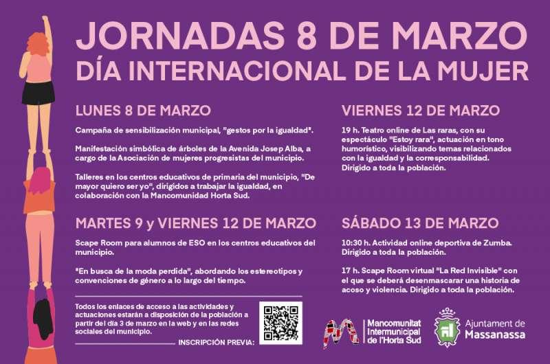 Programación del 8 de marzo en Massanassa. EPDA