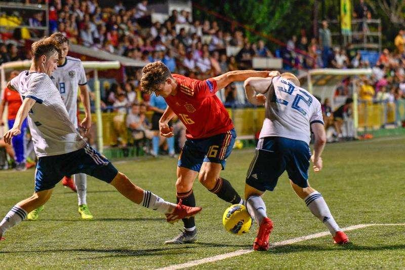 Un lance del partido del COTIF entre las selecciones de España y Rusia. Foto cedida por la organización.