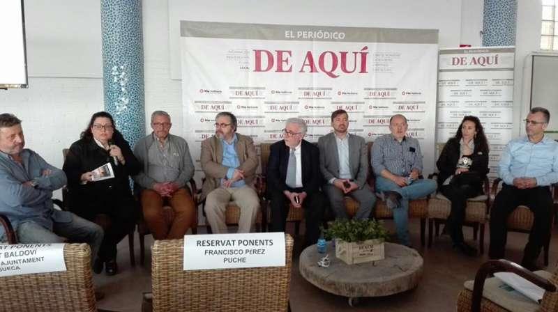 Algunos de los ponentes de las II Jornadas sobre la Albufera de El Periódico de Aquí. EPDA