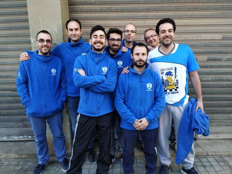 El equipo del Escacs Morvedre. EPDA