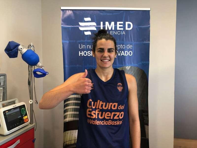 La base Leticia Romero, nueva jugadora del Valencia Basket. EPDA
