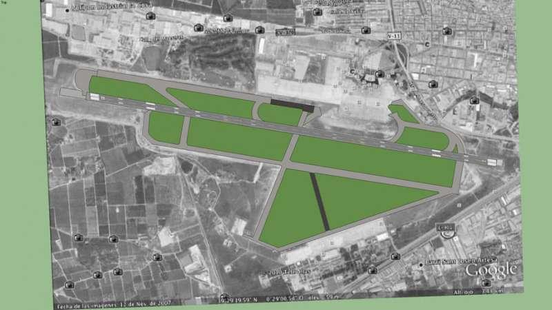 Vista aérea de Google.