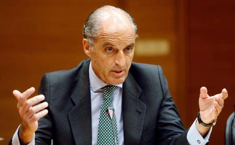 El expresidente de la Generalitat Valenciana, Francisco Camps, en una comparecencia en Les Corts. EFE/Archivo