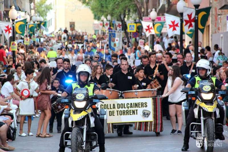 Dispositivos policiales en Torrent con motivo de las Fiestas.