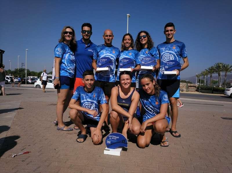 Los nadadores del Club Natación Morvedre. EPDA