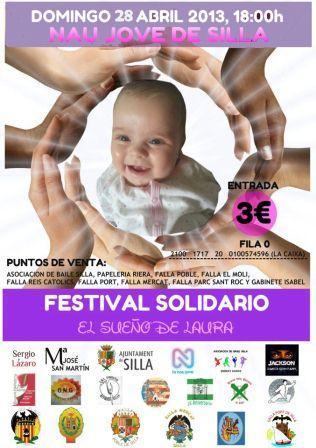 Cartel del festival solidario.