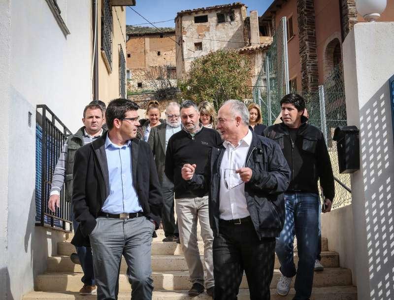 Visita de Jorge Rodrígez al Rincón de Ademuz.