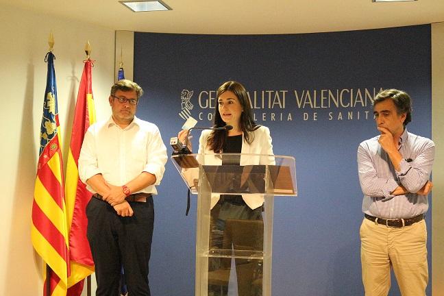 Carmen Montón durante la rueda de prensa