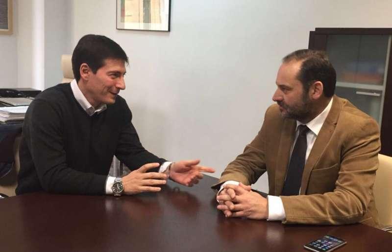 Ábalos con Rafael García