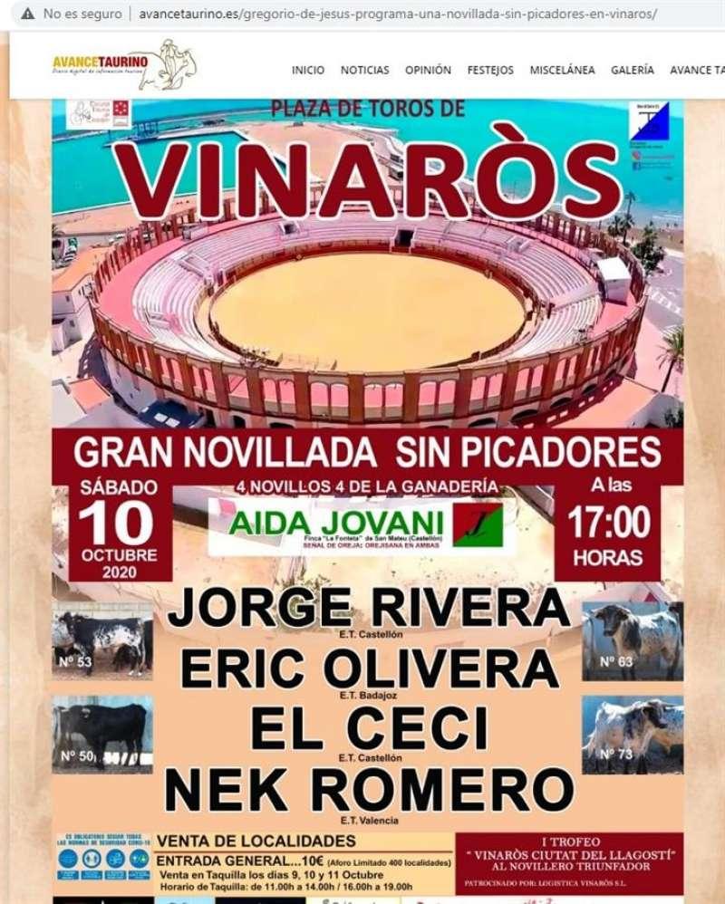 Cartel promocional del evento.