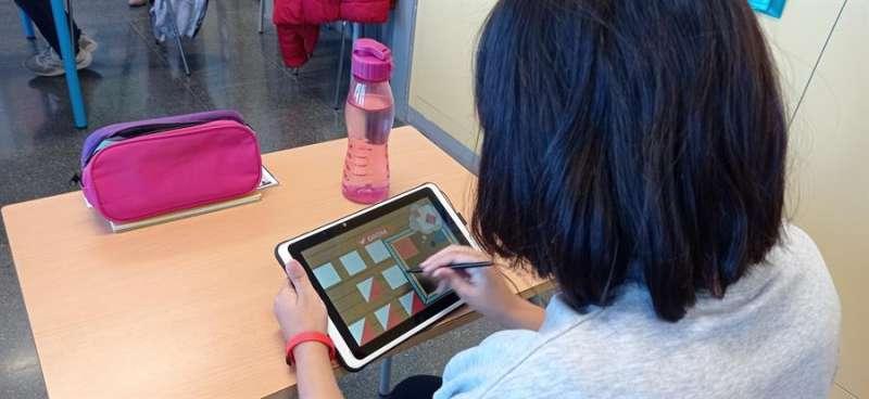 Imagen de la aplicación, en una fotografía facilitada por la UPV.-