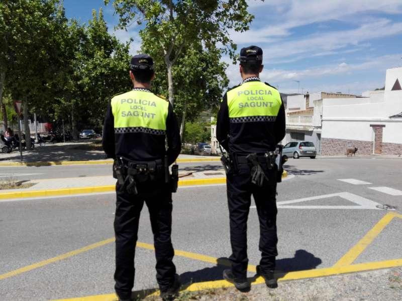 Agentes de la Policía Local de Sagunt. EPDA