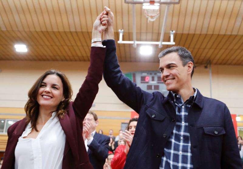 Pedro Sánchez respalda a Sandra Gómez como alcaldable socialista en València. EFE