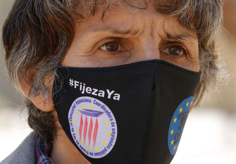 La funcionaria de la Generalitat de Alicante de 55 años que protagoniza una huelga de hambre convocada por la campaña