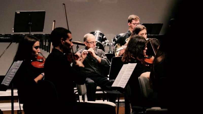 Ramón Bresó en uno de los conciertos de la Unió Musical. EPDA
