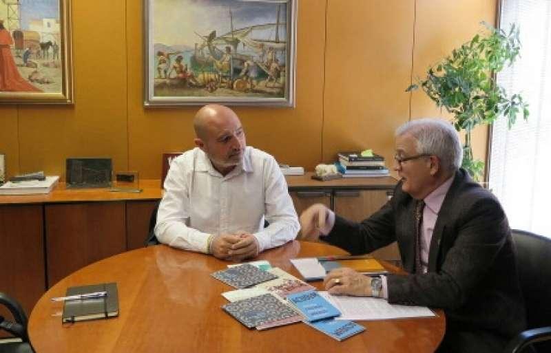 Xavier Rius reunit amb el diputat de Cultura de la Diputació d