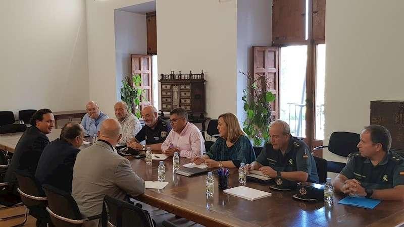 El delegado del Gobierno, Juan Carlos Fulgencio, durante la reunión mantenida con representantes de la Federación de Polígonos Empresariales de la Comunidad Valenciana (FEPEVAL)