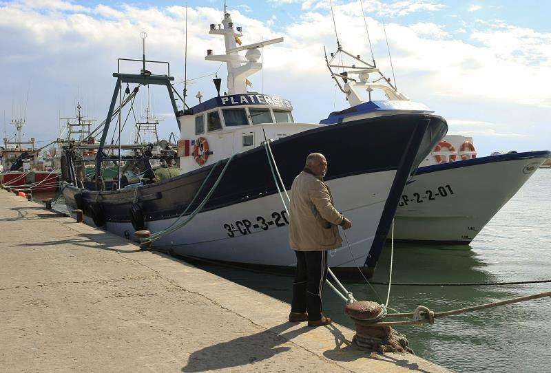 Flota pesquera amarrada en el puerto de Castellón. EFE/Archivo