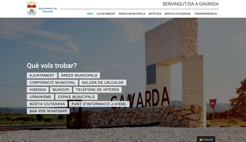 Página web Gavarda./Ajuntament Gavarda